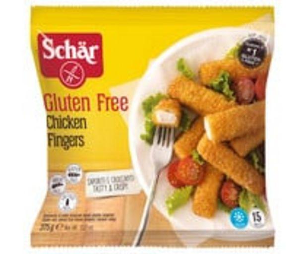Oferta de Barritas de pollo (fingers), sin gluten y sin lactosa SCHÄR 375 gr, por 5,33€