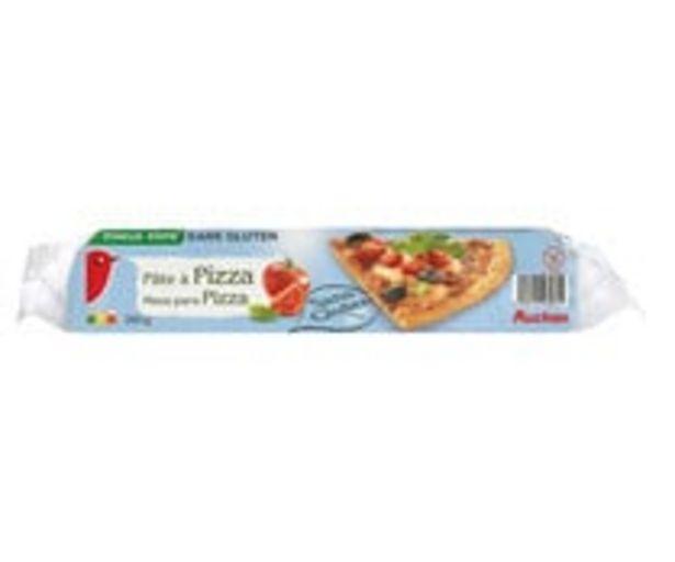Oferta de Masa para hacer pizzas, elaborada sin gluten PRODUCTO ALCAMPO 260 g. por 2,39€