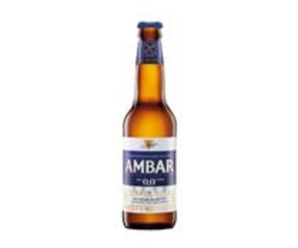 Oferta de Cervezas sin alcohol (0,0% Vol.), sin gluten AMBAR  botella de 33 cl. por 0,78€