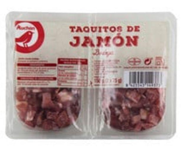 Oferta de Taquitos de jamón curado en bodega PRODUCTO ALCAMPO 2 x 75 g. por 1,9€