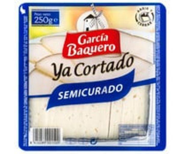 Oferta de Queso semicurado de vaca, oveja y cabra Ya Cortado GARCÍA BAQUERO, cuña de 250 g. por 3,75€