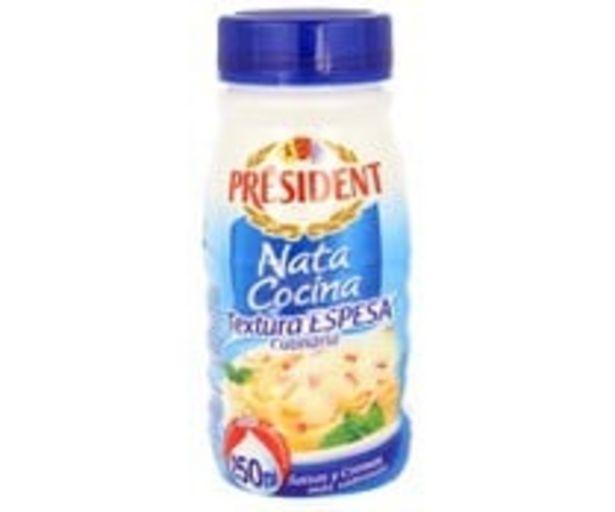 Oferta de Nata líquida para cocinar textura espesa PRESIDENT Epesa 250 ml. por 1,05€