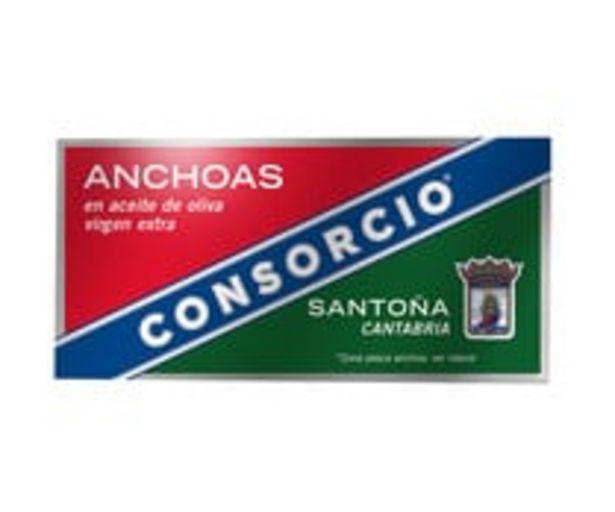 Oferta de Anchoas en aceite de oliva virgen extra CONSORCIO 29 g. por 2,4€
