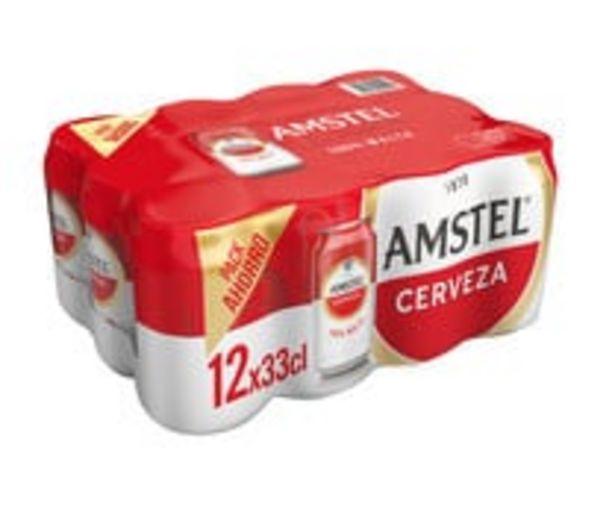 Oferta de Cervezas AMSTEL 100 % MALTA  pack 12 uds, de 33 cl. por 3,14€