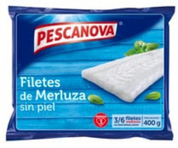 Oferta de Filetes medianos de merluza sin piel PESCANOVA 400 g. por 3,98€