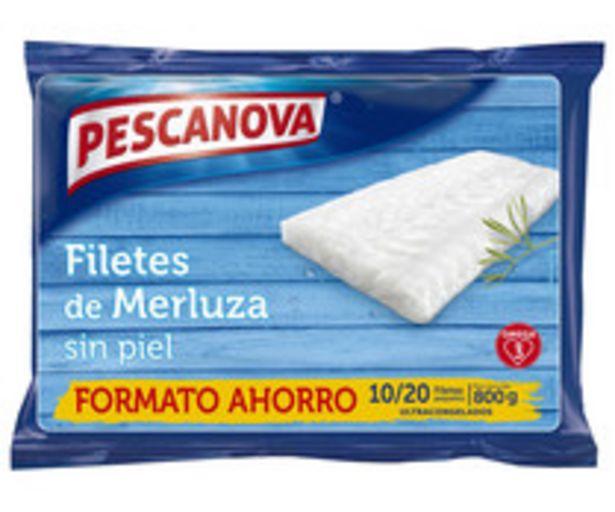 Oferta de Filetes pequeños de merluza, ultracongelados y sin piel PESCANOVA 800 g. por 7,45€
