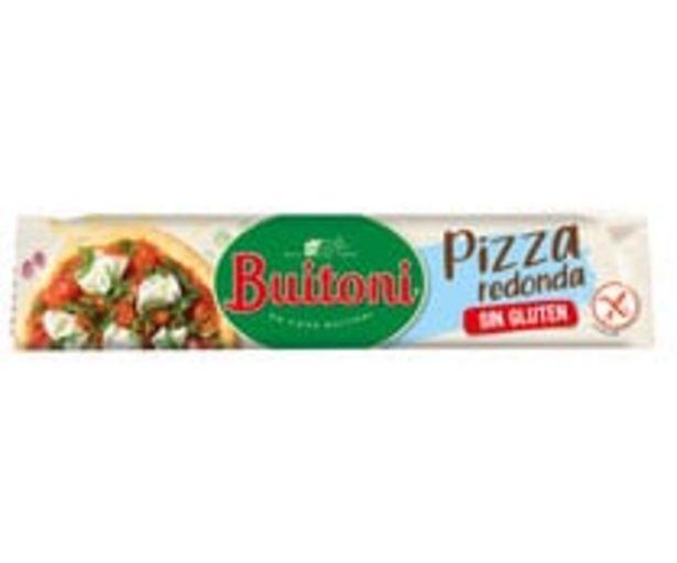 Oferta de Masa para pizza redonda, elaborada sin gluten BUITONI, 230 g. por 3,24€