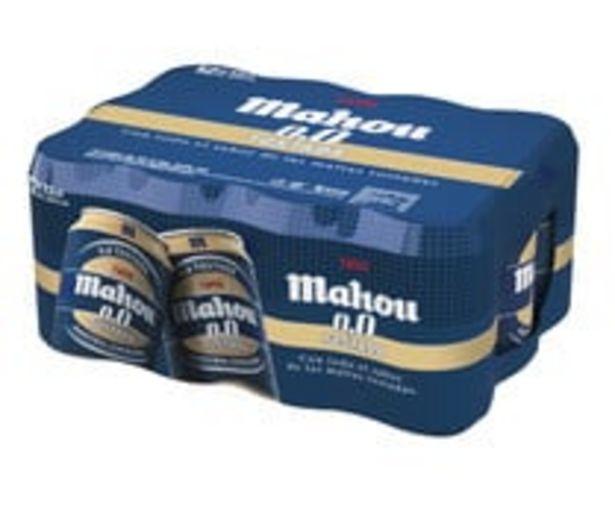 Oferta de Cervezas tostadas  0,0 % alcohol MAHOU Pack 12 latas x 33 cl. por 6,94€