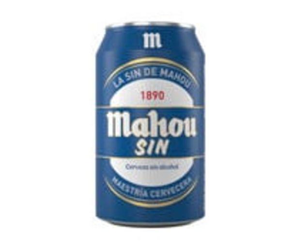 Oferta de Cerveza sin alcohol lata MAHOU 33 cl. por 0,5€