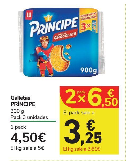Oferta de Galletas PRÍNCIPE por 4,5€