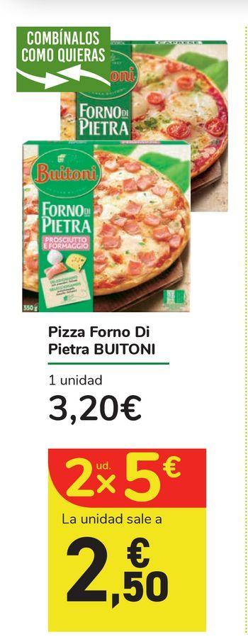 Oferta de Pizza Forno di Pietra Buitoni por 3,2€