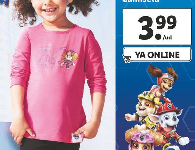Oferta de Camiseta niña Patrulla Canina por 3,99€