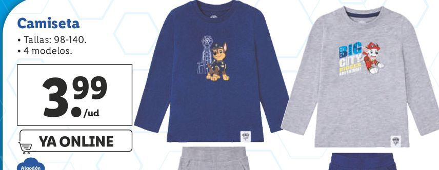 Oferta de Camiseta infantil por 3,99€