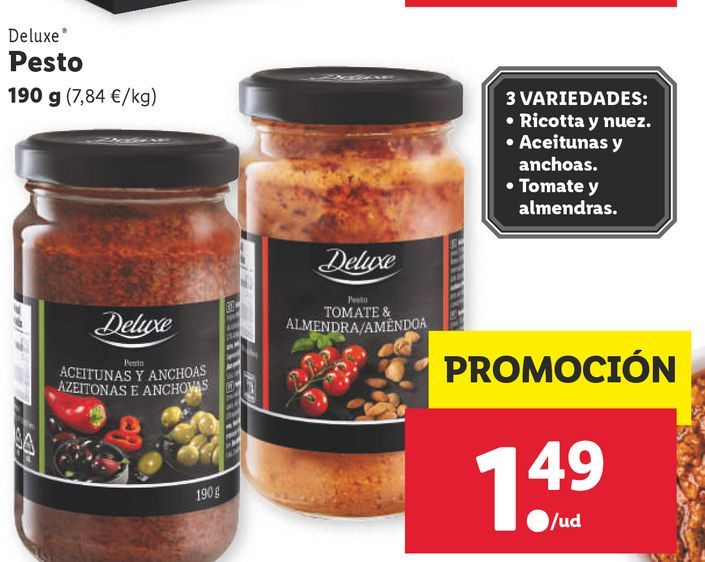 Oferta de Salsa pesto Deluxe por 1,49€