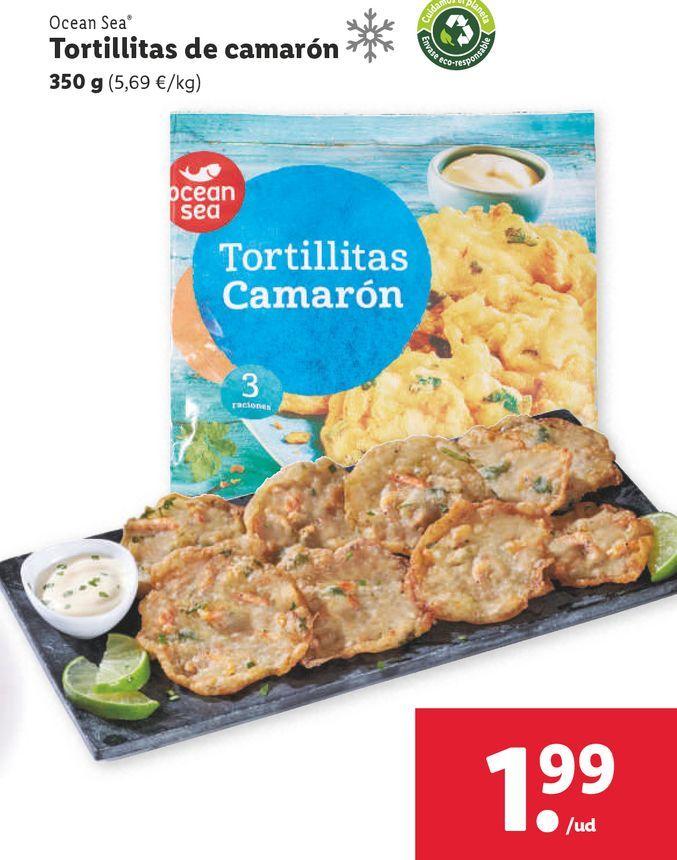 Oferta de Tortilla de camarones ocean sea por 1,99€