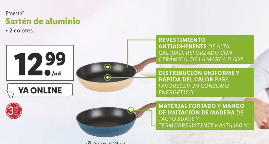 Oferta de Sartén de aluminio ernesto por 12,99€