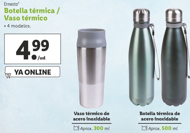 Oferta de Botella de aluminio ernesto por 4,99€
