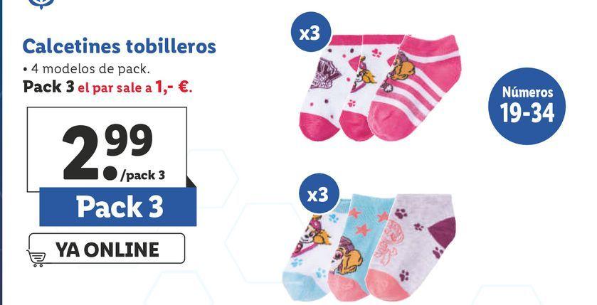 Oferta de Calcetines tobilleros por 2,99€