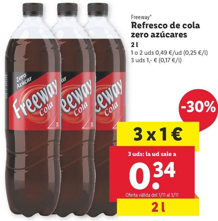 Oferta de Refresco de cola Freeway por 0,49€