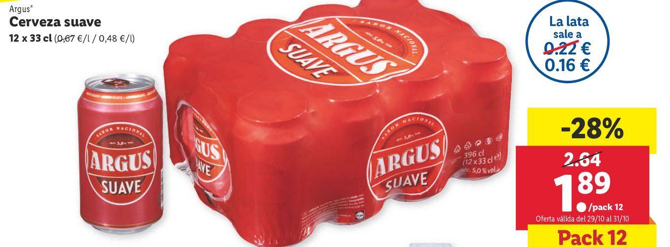 Oferta de Cerveza Argus por 1,89€