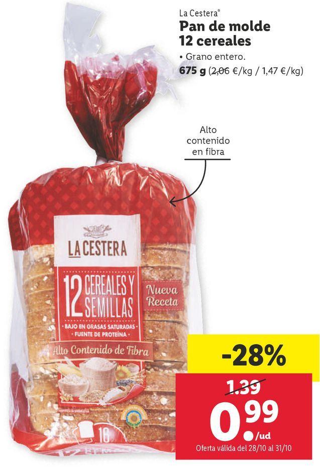 Oferta de Pan de molde La Cestera por 0,99€