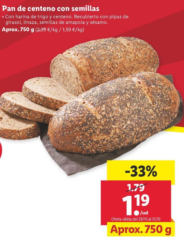 Oferta de Pan de centeno por 1,19€