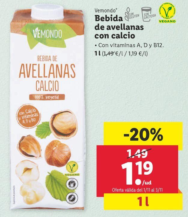 Oferta de Bebidas naturales por 1,19€