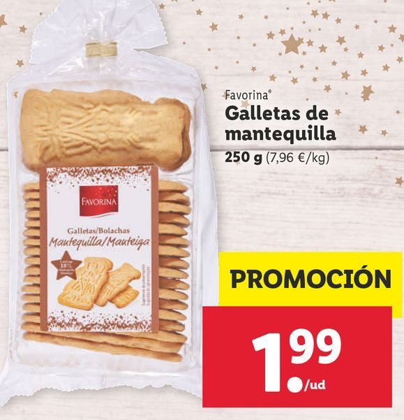 Oferta de Galletas de mantequilla Favorina por 1,99€