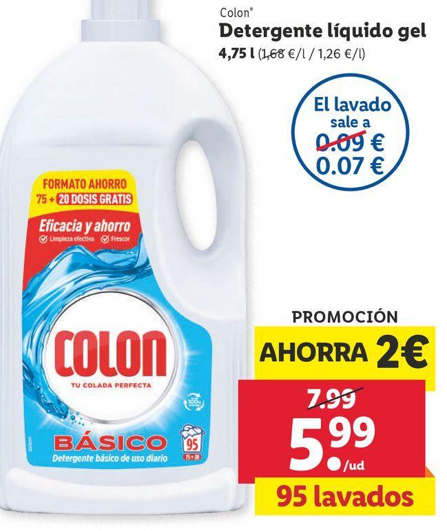 Oferta de Detergente liquido Colon por 5,99€