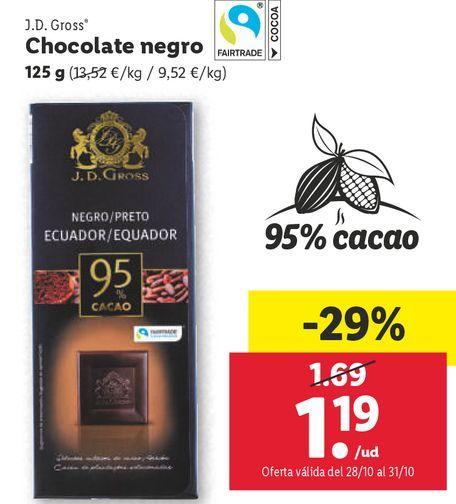 Oferta de Chocolate negro por 1,19€