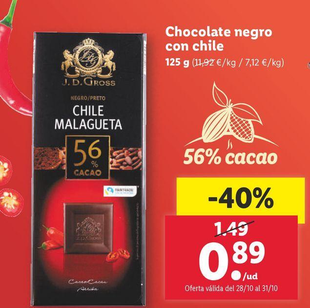 Oferta de Chocolate negro por 0,89€