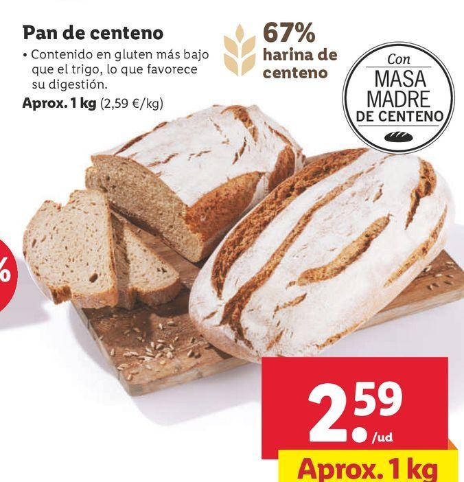 Oferta de Pan de centeno por 2,59€