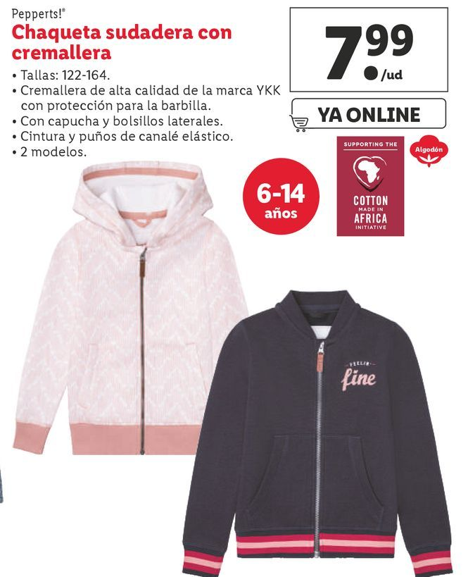 Oferta de Chaqueta niño Pepperts por 7,99€
