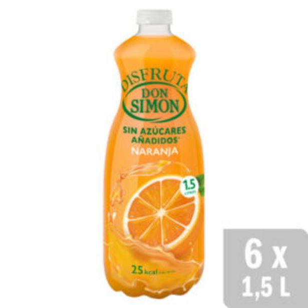 Oferta de Néctar Naranja Disfruta Néctar sin Azúcar 6 uds. x 1.5L por 10€