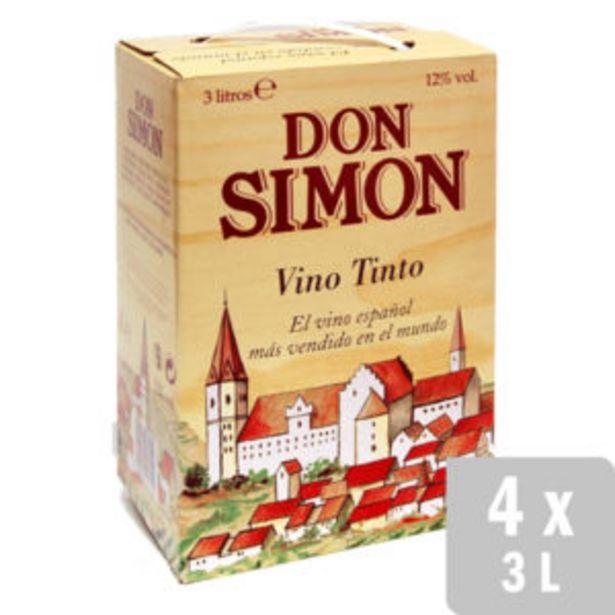Oferta de Vino Tinto Selección Bag in Box 4 uds. x 3L por 20€