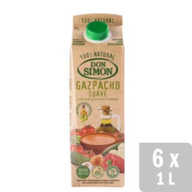 Oferta de Gazpacho Suave Refrigerado 6 uds. x 1L por 12€