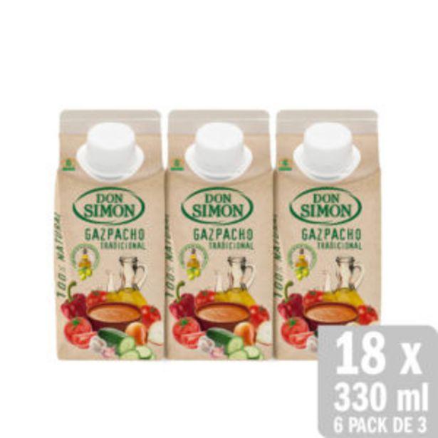 Oferta de Gazpacho Tradicional Refrigerado 18 uds. x 330ml por 16€