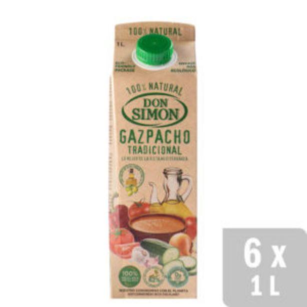 Oferta de Gazpacho Tradicional Refrigerado 6 uds. x 1L por 12€