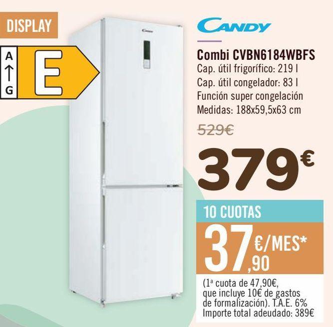 Oferta de CANDY Combi CVBN6184WBFS por 379€