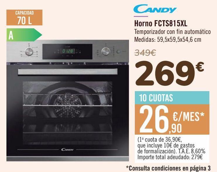 Oferta de Candy Horno FCTS815XL  por 269€