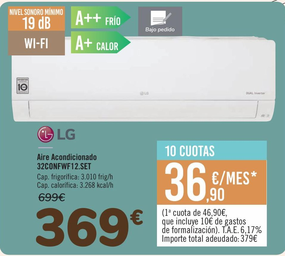 Oferta de Aire Acondicionado 32CONFWF12.SET  por 369€