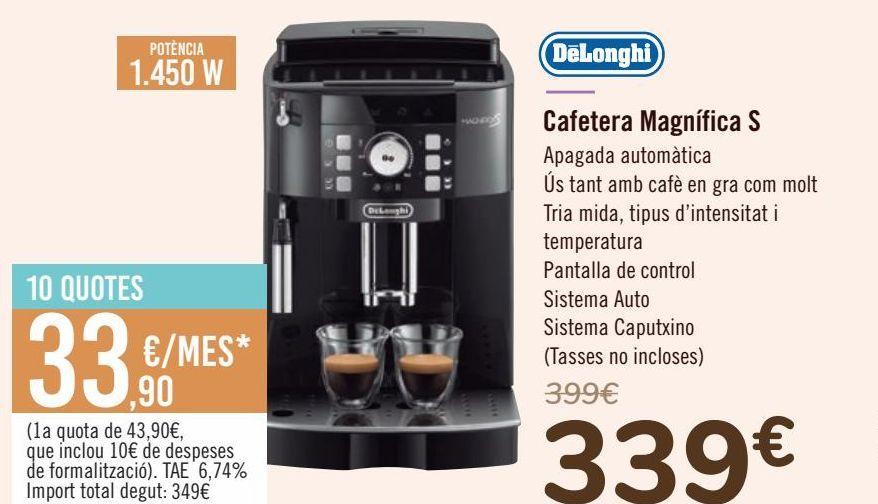 Oferta de DëLonghi Cafetera Magnifica S  por 339€