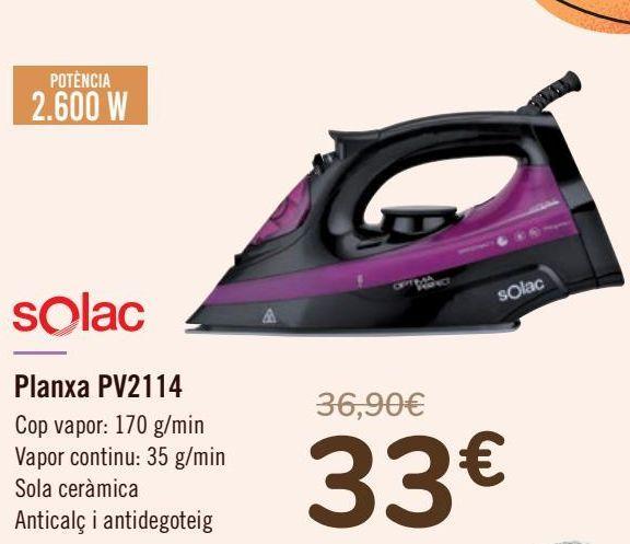 Oferta de Solac Plancha PV2114  por 33€