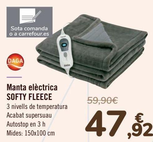 Oferta de Daga Manta eléctrica SOFTY FLEECE  por 47,92€