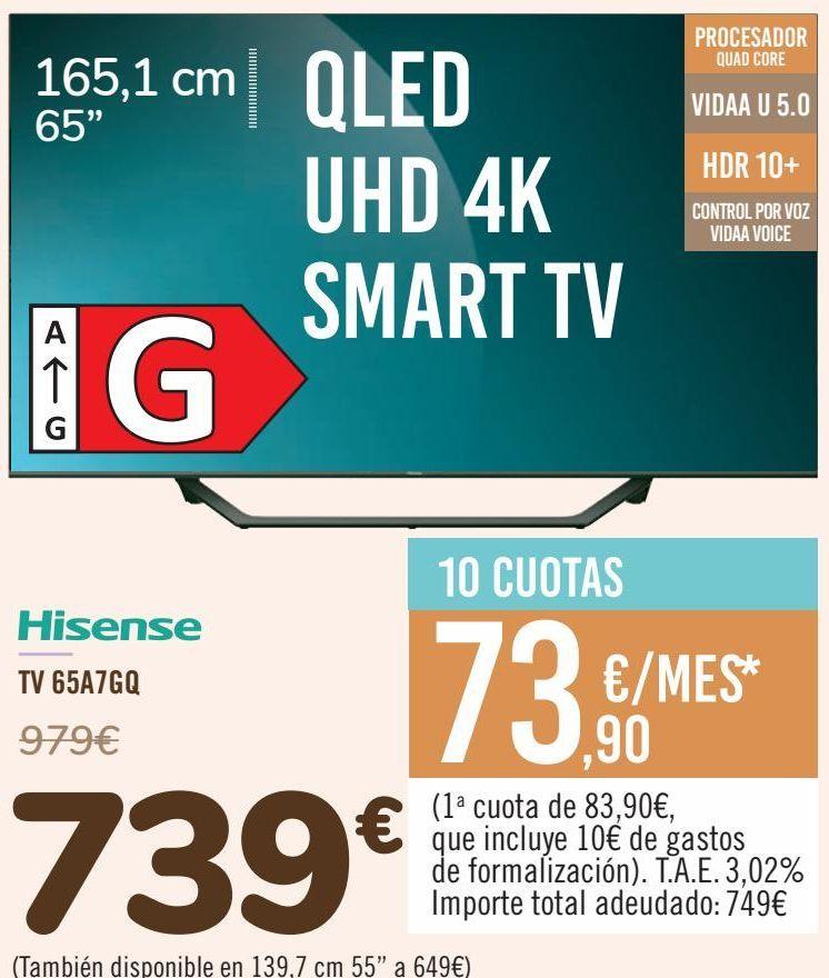 Oferta de Hisense TV 65A7GQ por 739€