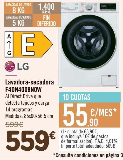 Oferta de Lavadora-secadora F4DN4008N0W por 559€