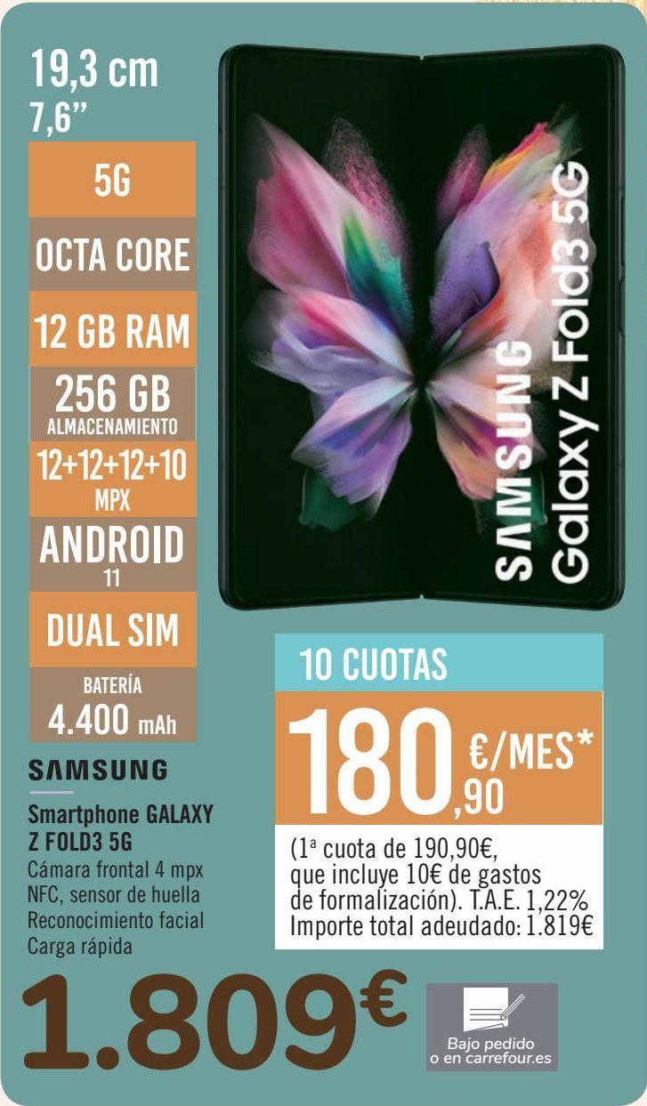 Oferta de SAMSUNG Smartphone GALAXY Z FOLD3 5G por 1809€
