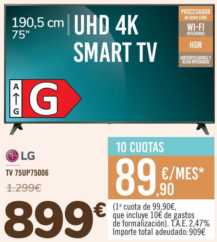 Oferta de LG TV 75UP75006 por 899€