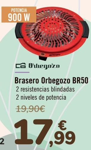Oferta de Orbegozo Brasero BR50  por 17,99€