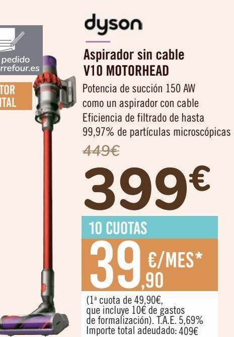 Oferta de Aspirador sin cable V10 MOTORHEAD  por 399€